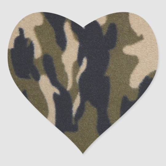 I love Camo! Heart Sticker