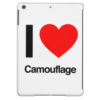 i love camouflage cover for iPad air