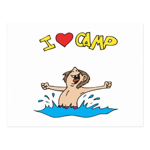 I Love Camp 2 Postcard