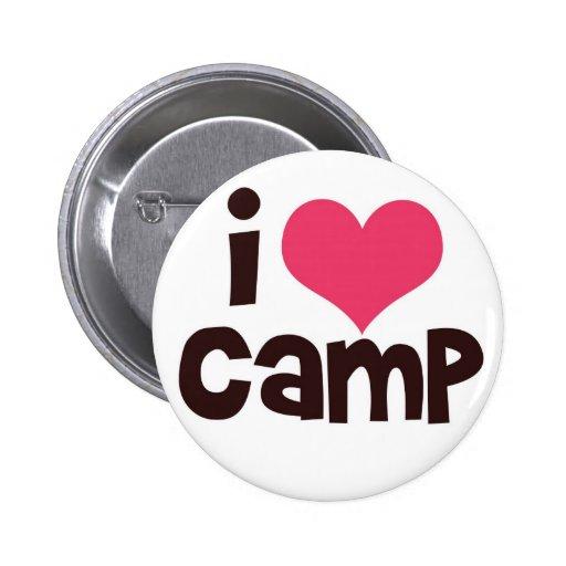 I Love Camp Button