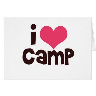 I Love Camp Card