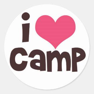I Love Camp Classic Round Sticker