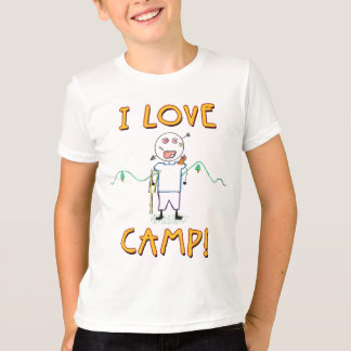 I Love Camp - Funny Kids Summer Camp Drawing T-Shirt