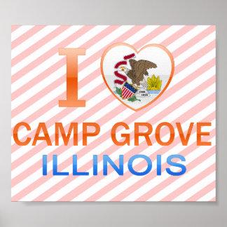 I Love Camp Grove, IL Posters