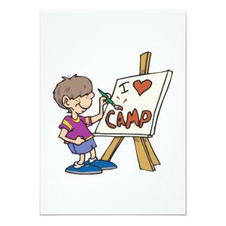 I Love Camp 5x7 Paper Invitation Card