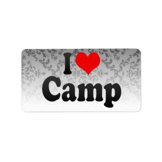 I love Camp Label
