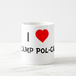 I Love Camp Pol-Cat Classic White Coffee Mug