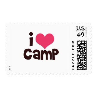 I Love Camp Postage Stamp