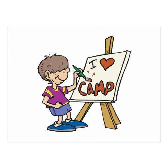 I Love Camp Postcard