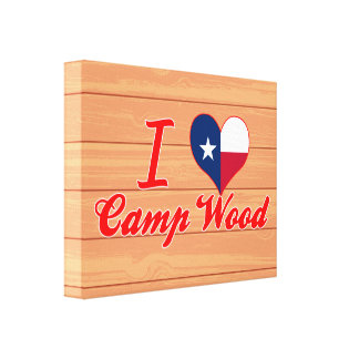 I Love Camp Wood, Texas Canvas Print