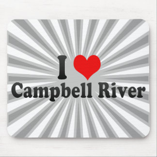 I Love Campbell River, Canada Mouse Pad