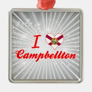 I Love Campbellton Florida Christmas Ornaments