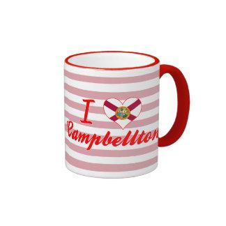 I Love Campbellton, Florida Ringer Mug