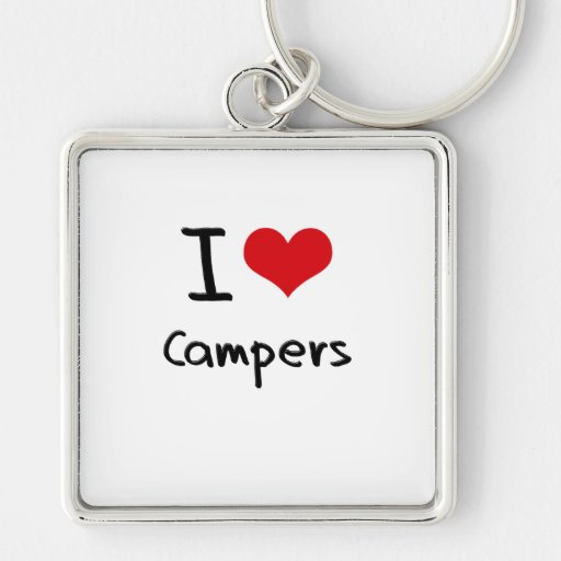 I love Campers Key Chain