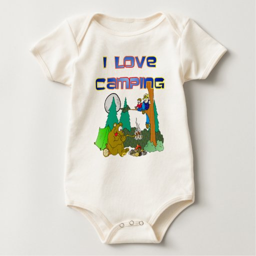 I Love Camping Baby Bodysuit