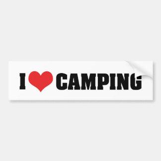 I Love Camping Bumper Sticker