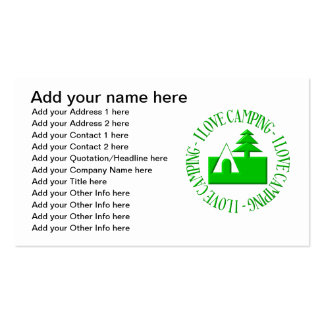 I love camping Double-Sided standard business cards (Pack of 100)
