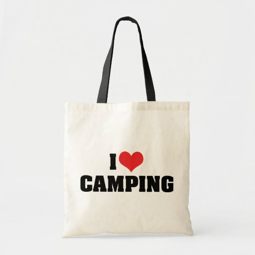 I Love Camping Canvas Bags