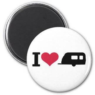 I love camping - caravan magnet