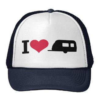 I love camping - caravan trucker hat