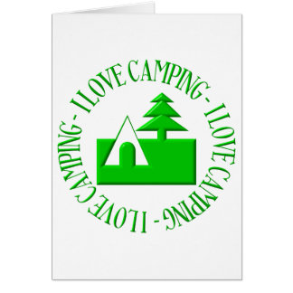I love camping greeting card