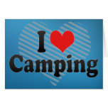 I Love Camping Cards