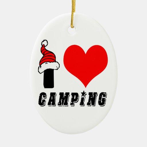 I Love Camping Design Ornament