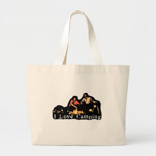 I Love Camping Family Time Canvas Bag
