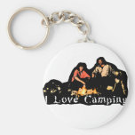 I Love Camping Family Time Keychain