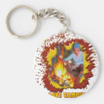I Love Camping Fire Spark Key Chains