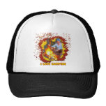 I Love Camping Fire Spark Mesh Hat