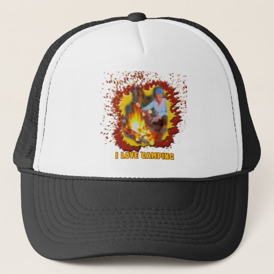 I Love Camping Fire Spark Trucker Hat