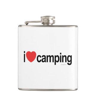 I Love Camping Hip Flasks