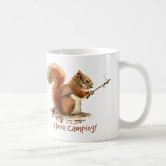 I love CAMPING Fun Squirrel Cute Animal Quote Coffee Mug