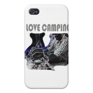 I Love Camping Grilling iPhone 4 Case