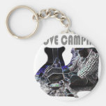 I Love Camping Grilling Keychain