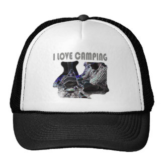 I Love Camping Grilling Trucker Hat