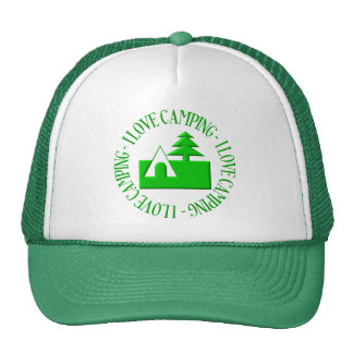 I love camping trucker hat