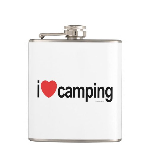I Love Camping Hip Flask