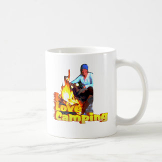 I Love Camping Hot Dogs and S'mores Coffee Mug