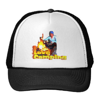 I Love Camping Hot Dogs and S'mores Trucker Hat