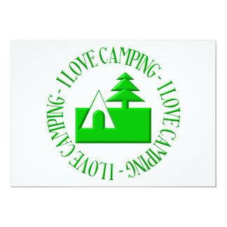 I love camping 5x7 paper invitation card