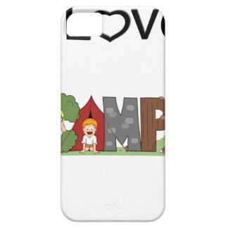 I Love Camping iPhone SE/5/5s Case