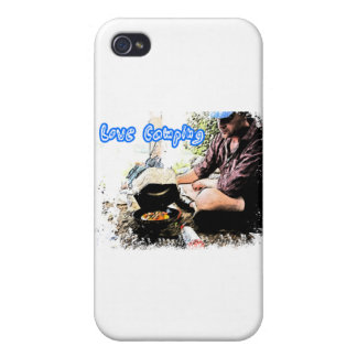 I Love Camping Iron Skillet iPhone 4 Covers