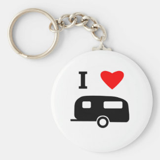 I Love Camping Keychain
