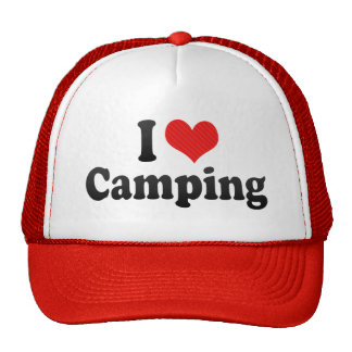 I Love Camping Mesh Hats