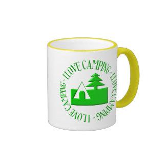 I love camping ringer coffee mug
