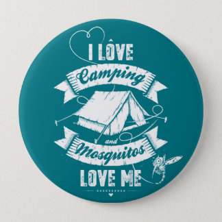 I love camping pinback button