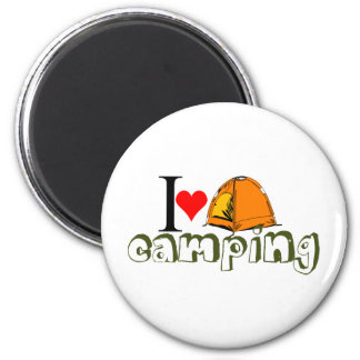 i love camping.png 2 inch round magnet