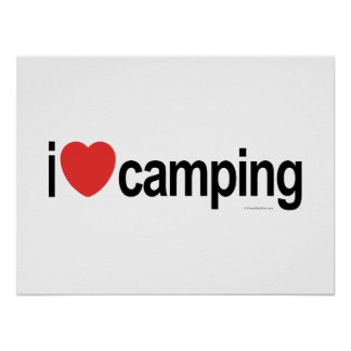 I Love Camping Poster